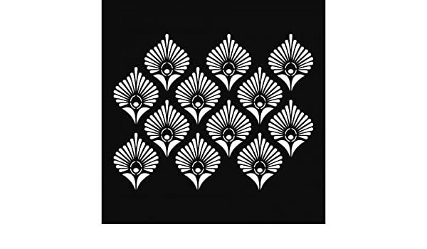Arts & Crafts Peacock feathers Artemio Stencil 30 x 30 cm Paper & Paper Crafts