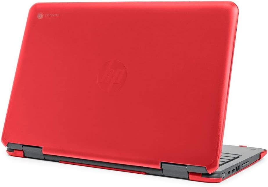 "mCover Hard Shell Case for Late-2019 11.6"" HP Chromebook X360 11 G2 EE laptops (Red)"