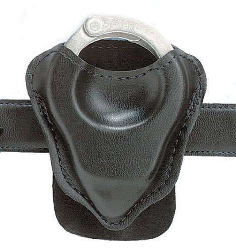 Safariland 590 Handcuff Pouch with Paddle fits 1.75-Inch Belt (Plain Black)