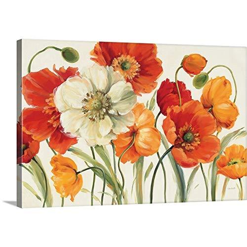 Poppies Melody I Canvas Wall Art Print, 24
