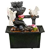 EG Homewares Waterfall Water Fountain Calming Feng Shui Effect Indoor Table Desk Top Feature