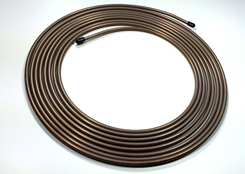 25 feet of Copper Nickel 1/4 Inch Brake or Fuel Line Tubing