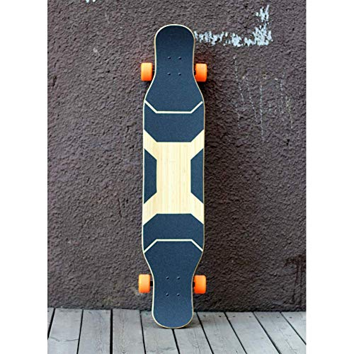 "Skateboard - Kids Adult Completa 5 Capas En El Medio Más Arce + Capas Superior E Inferior De Bambú Maple Wood Skate Board, 46""X 9.6"" Full Size Board"