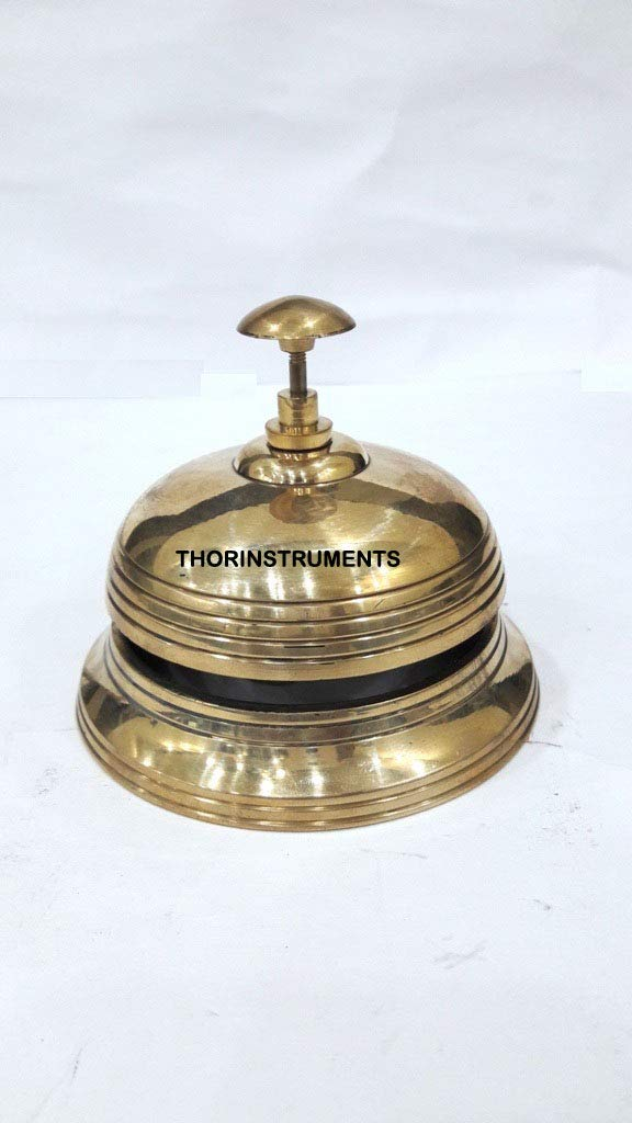 Nautical Table Bell Solid Brass Hotel Decor Office Motel Service Bell