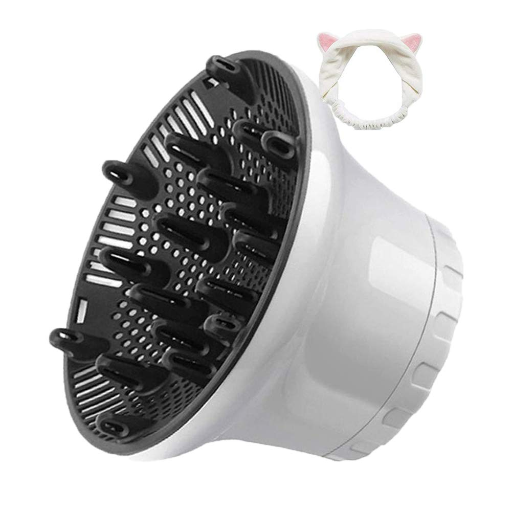 Universal Hair Diffuser Hair Dryer Diffuser Attachment For Curly Wave Thick and Nature Hair Profession Blow Dryer Diffuser Attachment Use Honeycomb Element Adjustable to 1.4-2.6 inch for Dryer Nozzle