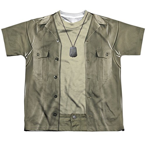 70s Tv Shows Costume Ideas (MASH War Comedy TV Series Movie Army Greens Costume Big Boys Front Print Tee)