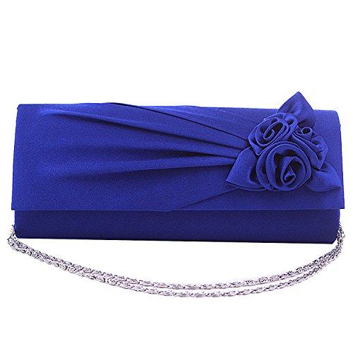 Gosear Fashion Rose Doblez del Bolso de Mano Para Partido Azul
