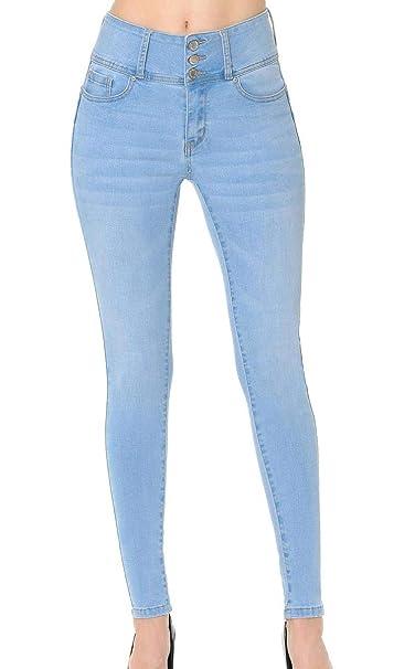 Amazon.com: Wax - Pantalones vaqueros para mujer con 3 ...