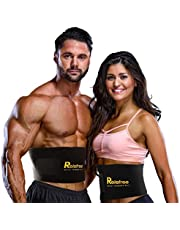 Relefree Waist Trimmer Belt, Adjustable Ab Sauna Belt for Women or Men with Maximum Abdominal Coverage-Non-Slip Surface for Max Waist Slimming
