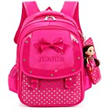 Mojing Elementary School Book Bags Cute Kids Backpack for Little Girls