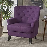 Christopher Knight Home 301416 Anika Arm Chair, Purple + Dark Brown