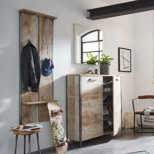 Lomadox Vintage Garderoben Set In Findusschalung Mit Schuhschrank