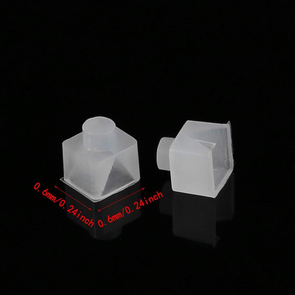 VvXx 1 par de rodamientos de teflón en forma de V para tocadiscos ...