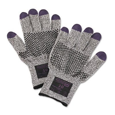 Jackson Safety G60 Purple Nitrile Cut Resistant Gloves (97433), Size 10 (XL), Grey and Black with Purple Fingertips, Ambidextrous, 1 Pack, 24 Gloves