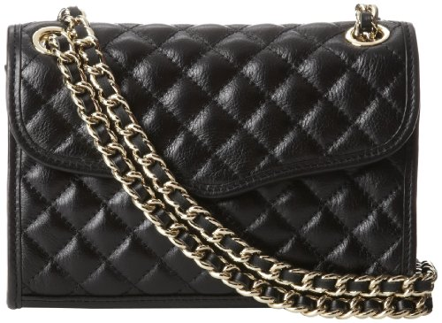 Rebecca Minkoff Mini Quilted Affair Cross-Body Bag,Black,One Size -