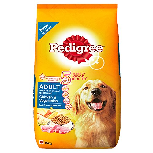 Pedigree Adult Dog Food Chicken & Vegetables, 15 kg Pack