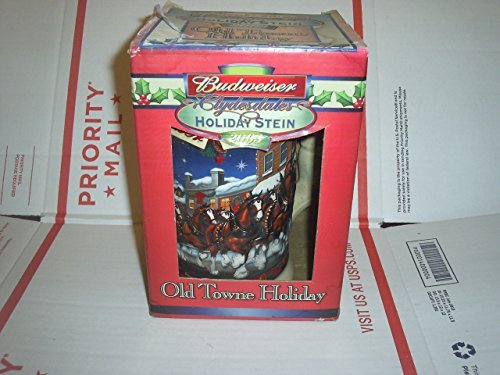 - Budweiser Clydesdales Holiday Stein Old Towne Holiday 2003 by Budweiser