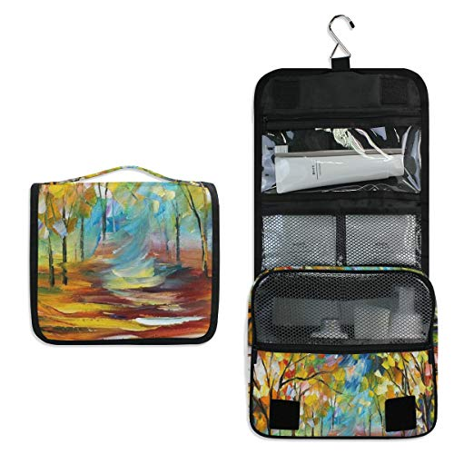 Fine Art Toiletry Bag Multifunction Cosmetic Bag Portable Makeup Pouch Waterproof Travel Hanging Organizer Bag for Women Men Girls