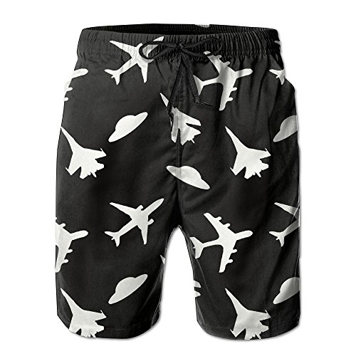 Mens Board Shorts With Pockets Fighter Black And White Bathing Suits For Man's (Tormentor Board Shorts)