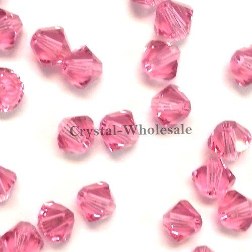 1440 pcs Swarovski crystal 5328 / 5301 4mm ROSE (209) Genuine Loose Bicone Beads