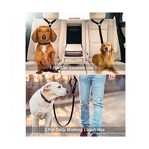 51fayY%2B6XCL CGBOOM Universal Hunde Sicherheitsgurt fürs Auto Kopfstütze, Multifunktions Verstellbar Hundegurt Sicherheitsgeschirr…