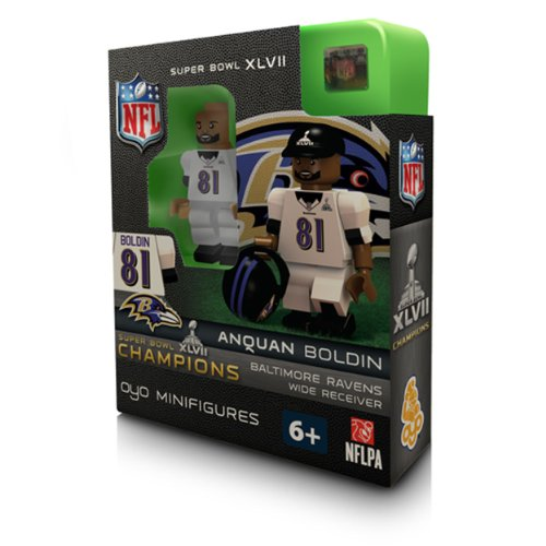 NFL Baltimore Ravens Anquan Boldin Super Bowl Champion OYO Figure