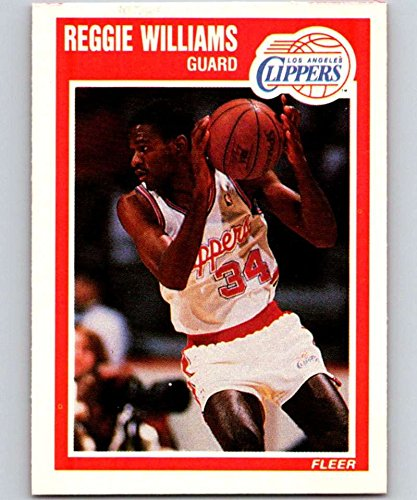 (1989-90 Fleer Basketball Card #74 Reggie Williams RC Rookie Card Los Angeles Clippers Official NBA Basketball Cards)
