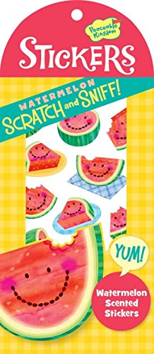 Peaceable Kingdom Scratch and Sniff Watermelon Scented Sticker Pack