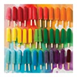 """Toys : Galison Mudpuppy 500-Piece Rainbow Popsicle Puzzle – Finished Puzzle Measures 20""""x20"""" – Features Julie Seabrook Photo Art"""