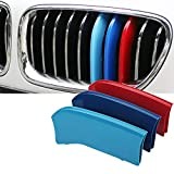 Teepao M-Colored Stripe Grille Insert Trims Coner Replacement for BMW 2014 2015 X 5, 2015 X 6 Center Kidney Grill