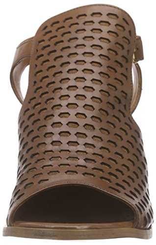 Bprivate E0705x Dames Geopend Sandaal Met Blok Hiel Beige (cuoio)
