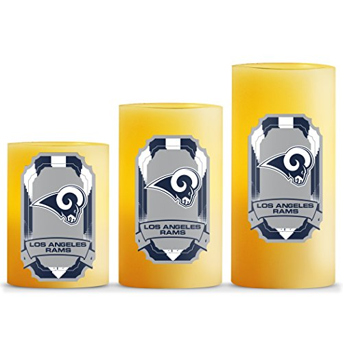NFL Los Angeles Rams LED Light Candle Gift Set (3 piece)
