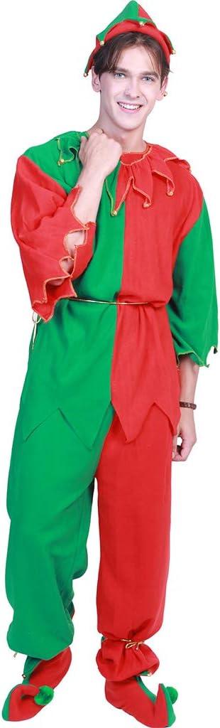 ECMQS Mujeres/Hombres Disfraces de Navidad Elf en Pareja Santa ...
