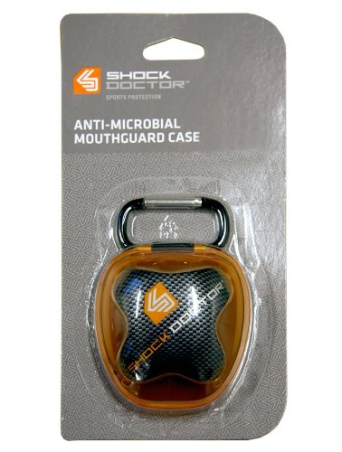 Silverton Zahnschutz Shock Doctor Mundschutz Aufbewahrungsbox, orange/schwarz 4101C