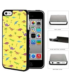 Prehistoric Colorful Dinosaur Pattern Hard Plastic Snap On Cell Phone Case Apple iPhone 5c