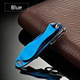 Nail Clippers for Men Women Seniors with Thick Toenails 360-Degree Swivel Head Design Provide Precision Cut (Blue)