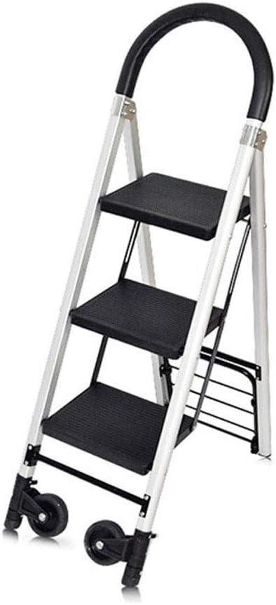 JU FU Escalera plegable Taburete, hogar silla de tijera Escalera ascendente General Perfil Biblioteca Archivo Escalera Sala Especial de Tres Pasos libro Escalera Negro @@ (Size : 36x76x120cm): Amazon.es: Bricolaje y herramientas