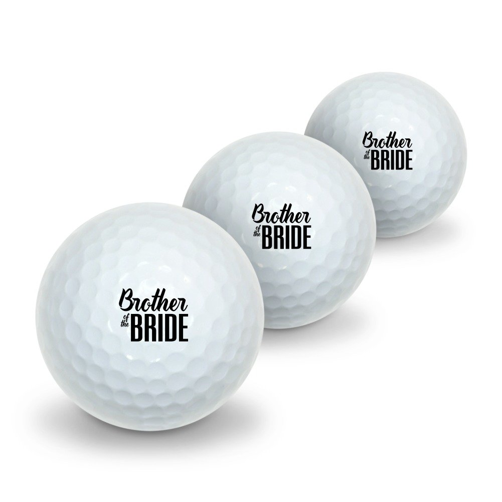 Brother of the Bride Wedding Novelty Golf Balls 3 Pack