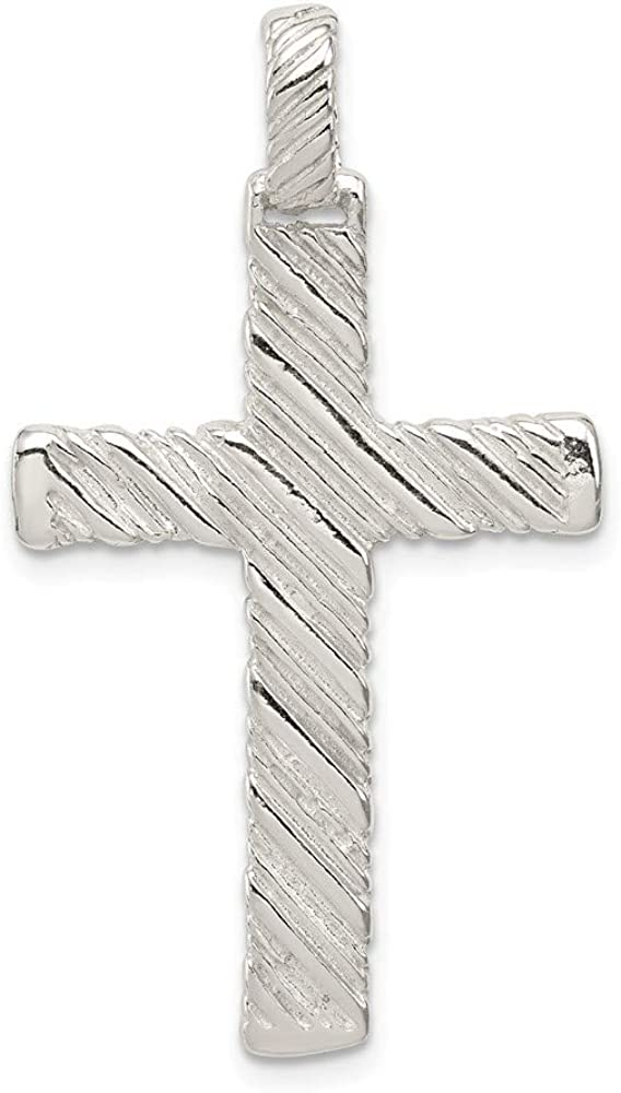 925 Sterling Silver Latin Cross Charm and Pendant