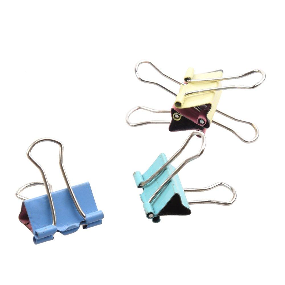 Nikgic Metall Foldback Klammern Bunt Binder Clips Multifarbe Binder Clips Vielzweckklammern 19 mm 40 St/ück