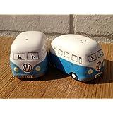 Camper Van Hippy Bus Salt and Pepper Pots - Sky Blue by Ginger Interiors