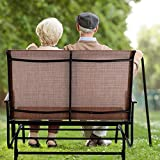 PHI VILLA Patio Swing Glider Bench for 2 Persons