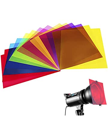 120a184a549100 14 Pack Colored Overlays Transparency Color Film Plastic Sheets Correction  Gel Light Filter Sheet