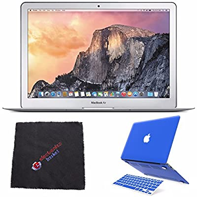 "Apple 13.3"" MacBook Air Laptop Computer 256GB (MMGG2LL/A) + 2 in 1 Soft-Touch Plastic Hard Case & Silicone Keyboard Cover for Apple Macbook Air 13-inch 13"" (Royal Blue) + Cleaning Cloth Bundle"