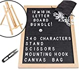 #1: Felt Letter Board -12x16 Changeable Message Sign | Stand Scissors Bag by ESG Warehouse
