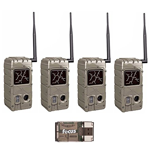 Cuddeback 20MP Dual Flash Game Cams with CuddeLink CL-Caps: Four Wireless Networked Trail Cameras