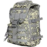 Runytek 40L Tactical & Military Camping Backpack Waterproof 3P MOLLE System Backpack Assault Travel Outdoor Bag for Men