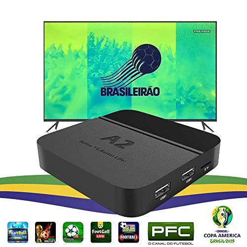 (iptv Brazil Brazilian tv Box,a2 4k tv Box,2019 Newest Portuguese PFC TV Channel Show BTV Set-Top Box, More Than 200 Brazilian TV Shows, Better Faster Then IPTV6 HTV 5 6 IPTV6+,4K TV Box Brazil)
