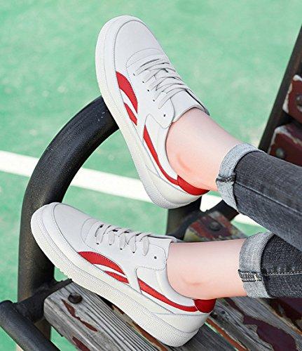 de Tablero Mujeres Las Cordones Zapatos Color Zapatillas Zapatos Ocasionales Rojo tamaño Ocasionales de Muchachas 37 Las de Las Deporte de de Zapatos Rojo señoras wzvnS4vq