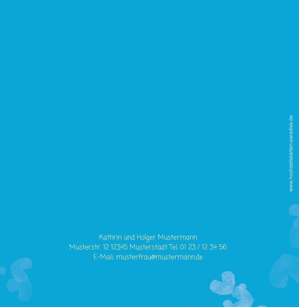 Kartenparadies Danksagung Danksagung Danksagung für Hochzeitsgeschenke Hochzeit Dankeskarte Liebesglück, hochwertige Danksagungskarte Hochzeitsglückwünsche inklusive Umschläge   20 Karten - (Format  145x145 mm) Farbe  Türkisblaukräftig B01NBW d28685
